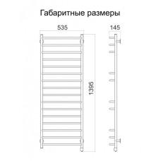 Полотенцесушитель электрический Тёплый мир Премьера 1395х535х145