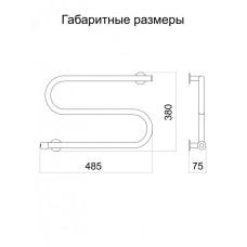 Полотенцесушитель электрический Тёплый мир Змейка Плюс 380х485х75