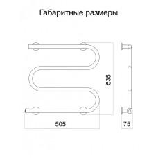 Полотенцесушитель электрический Тёплый мир Змейка 535х505х75