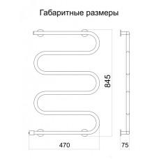 Полотенцесушитель электрический Тёплый мир Оптима 5 845х470х75