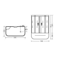 Гидробокс MIRACLE TS8002 Rz, 150*85 с гидромассажем