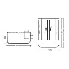 Гидробокс MIRACLE TS8009-1 Rz, 170*85