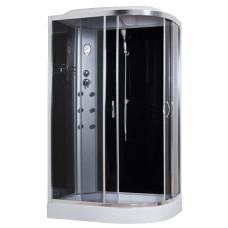 Гидробокс Sansa 8890D/15-L, 120*80*(15)215, рама сатин, стекло серое