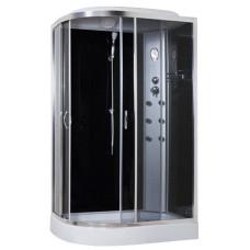 Гидробокс Sansa 8890D/15-R, 120*80*(15)215, рама сатин, стекло серое
