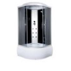 Гидробокс Sansa 8890D, 90*90*(45)215, рама сатин, стекло серое