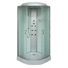 Гидробокс Sansa 8890D, 90*90*(15)215, рама сатин, стекло фабрик