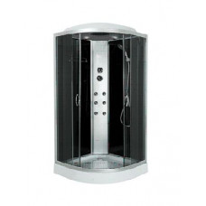 Гидробокс Sansa 8890D, 90*90*(15)215, рама сатин, стекло серое