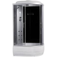 Гидробокс Sansa 8890D/45-L, 120*80*(45)215, рама сатин, стекло серое
