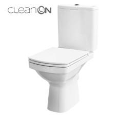 Унитаз Cersanit Easy CLEAN ON 011 3/5 Дюропласт soft clouse ниж. подвод, гор. выход
