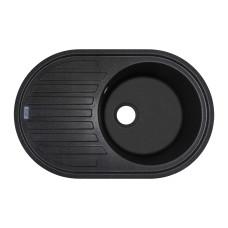 Мойка гранитная ARGO Albero 770x500x200 Чёрная