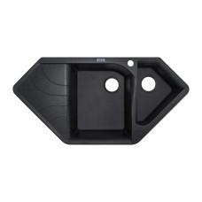 Мойка гранитная ARGO Angolo 1000x500x225 Чёрный металлик