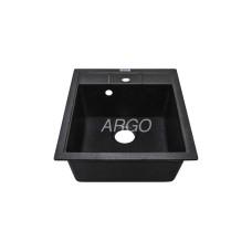 Мойка гранитная ARGO Bella 460x515x200 Чёрная