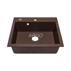 Мойка гранитная ARGO Cubo 590x500x200 Коричневая