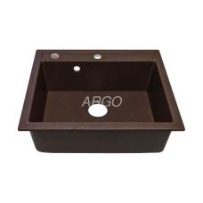 Мойка гранитная ARGO Cubo 590x500x200 Мокко