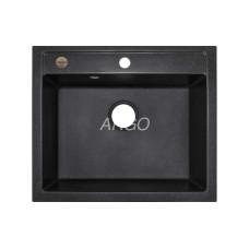 Мойка гранитная ARGO Cubo 590x500x200 Чёрная