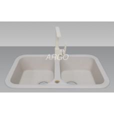 Мойка гранитная ARGO Gemelli 770x470x190 Ivory