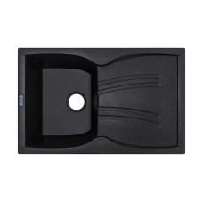 Мойка гранитная ARGO Medio 790x500x235 Чёрный металлик