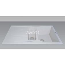 Мойка гранитная ARGO Medio Plus 975x495x230 Белая