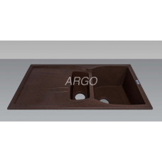 Мойка гранитная ARGO Medio Plus 975x495x230 Мокко