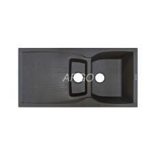 Мойка гранитная ARGO Medio Plus 980x500x230 Серая
