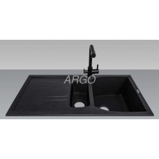 Мойка гранитная ARGO Medio Plus 980x500x230 Чёрная