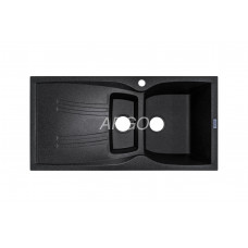 Мойка гранитная ARGO Medio Plus 980x500x230 Чёрный металлик