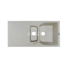 Мойка гранитная ARGO Medio Plus 980x500x230 Ivory