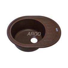 Мойка гранитная ARGO Ovale 620x500x200 Мокко