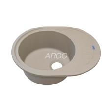 Мойка гранитная ARGO Ovale 620x500x200 Сахара