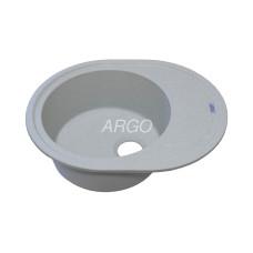 Мойка гранитная ARGO Ovale 620x500x200 Светло-серая