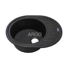 Мойка гранитная ARGO Ovale 620x500x200 Чёрная