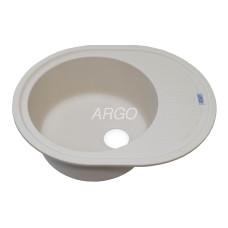 Мойка гранитная ARGO Ovale 620x500x200 Ivory