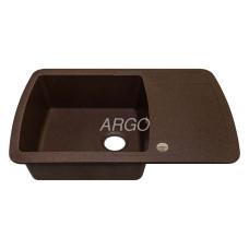 Мойка гранитная ARGO Premio 780x500x200 Мокко