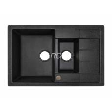 Мойка гранитная ARGO Stella Plus 780x500x200 Чёрная