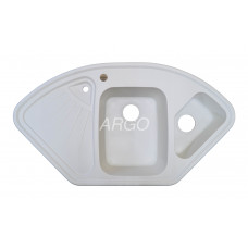 Мойка гранитная ARGO Trapezio 1045x575x190 Белая