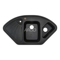 Мойка гранитная ARGO Trapezio 1060x575x190 Графит