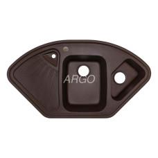 Мойка гранитная ARGO Trapezio 1060x575x190 Коричневая