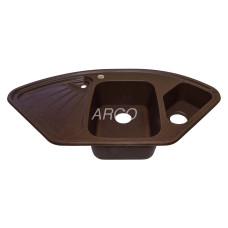 Мойка гранитная ARGO Trapezio 1060x575x190 Мокко