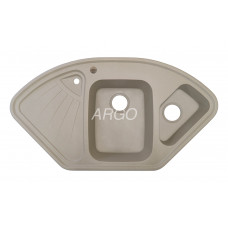 Мойка гранитная ARGO Trapezio 1060x575x190 Сахара