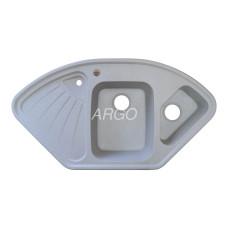 Мойка гранитная ARGO Trapezio 1060x575x190 Светло-серая