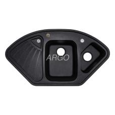 Мойка гранитная ARGO Trapezio 1060x575x190 Чёрная
