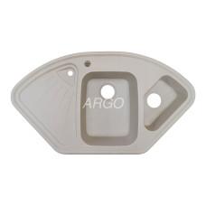 Мойка гранитная ARGO Trapezio 1060x575x190 Ivory