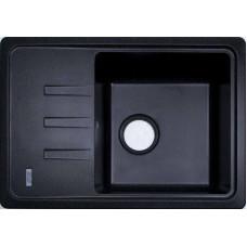 Мойка гранитная ARGO Carina 620x435x200 Чёрный металлик