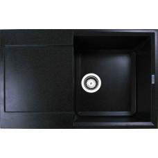 Мойка гранитная ARGO Vesta 790x500x230 Чёрный металлик