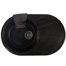 Мойка гранитная BORGIO OVC-775x500 Чёрная