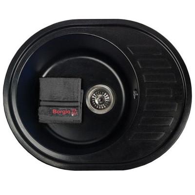 Мойка гранитная BORGIO OVM-620×500 Чёрная