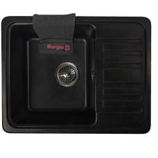 Мойка гранитная BORGIO PRC-570x460 Чёрная