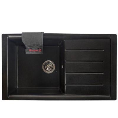Мойка гранитная BORGIO PRM-860×500 Чёрная