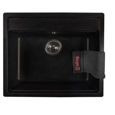 Мойка гранитная BORGIO SQ-570×510 Чёрная