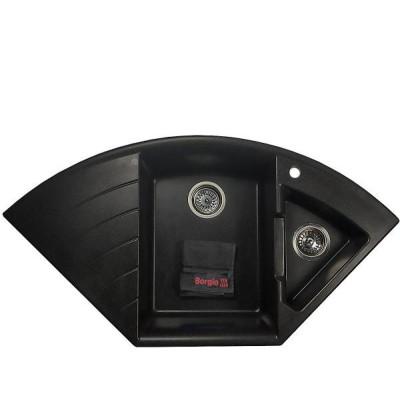 Мойка гранитная BORGIO TRM-1080×575 Чёрная